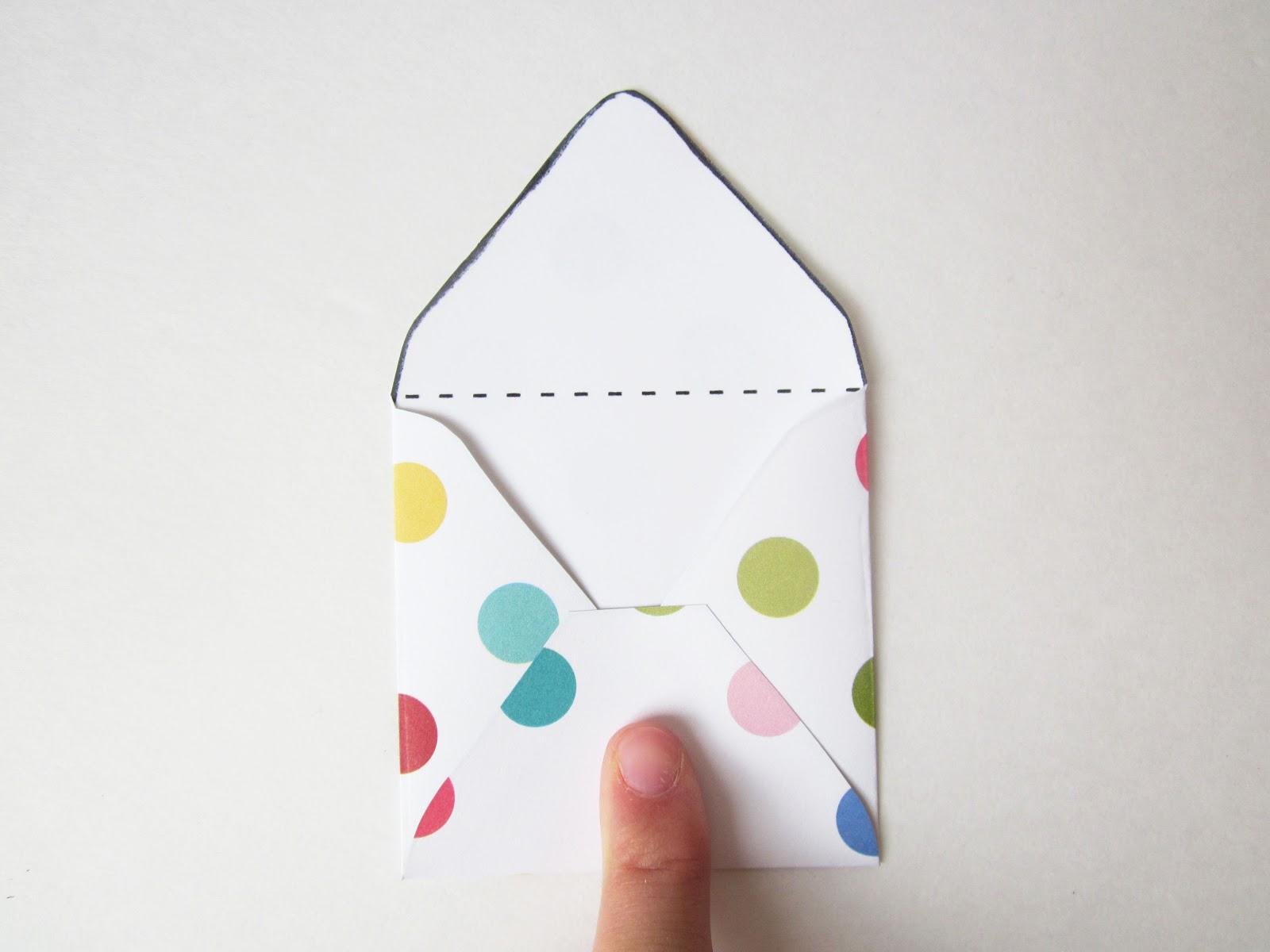 The Red Kitchen Diy Mini Envelopes Free Printable Pattern Tutorial .