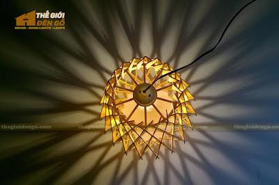 Đèn gỗ trang trí dg212 - 2