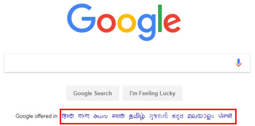 how to change language for google search engine