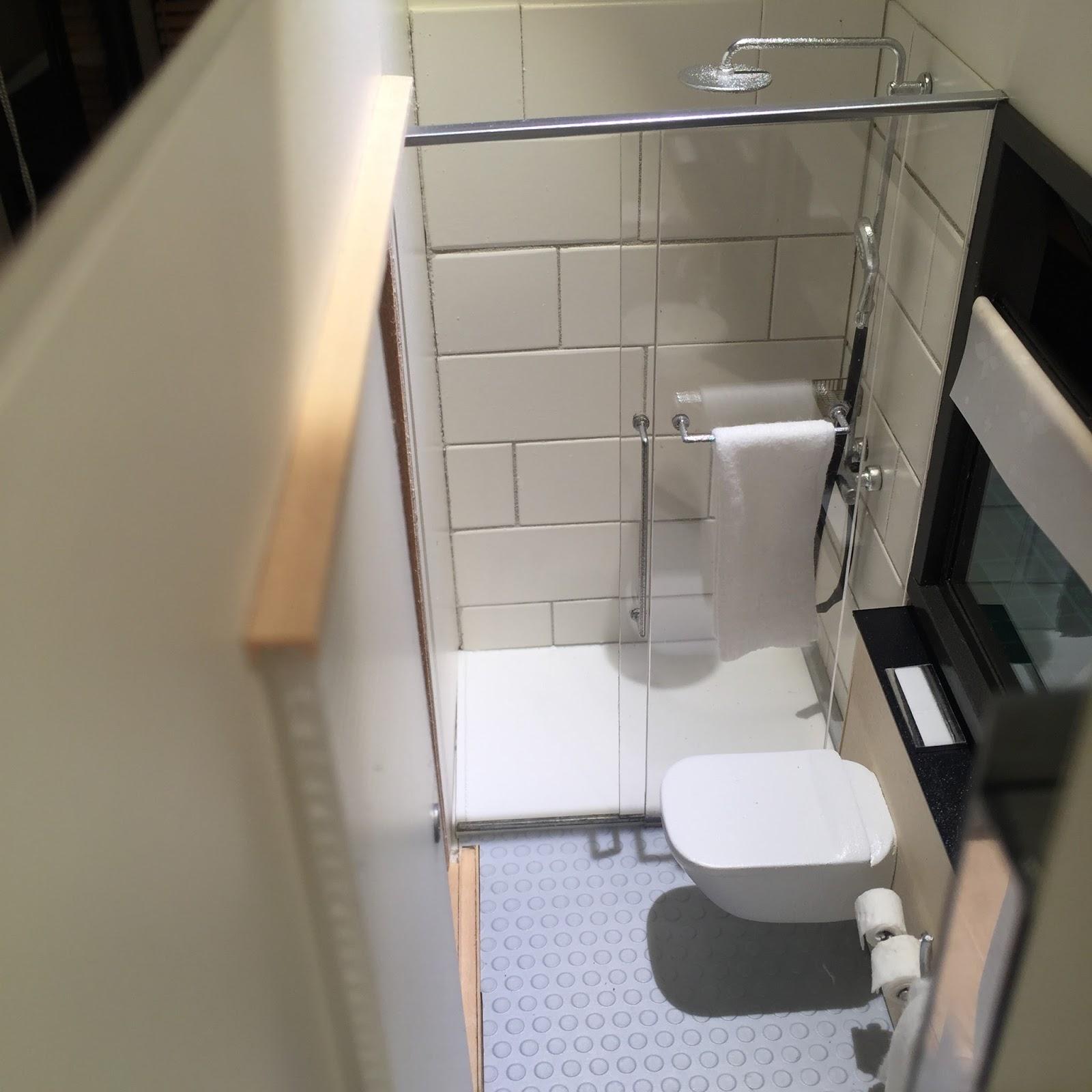 1 12 Scale Modern Model Houses Tiny Bathroom