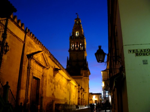 Mezquita de Córdoba de noche