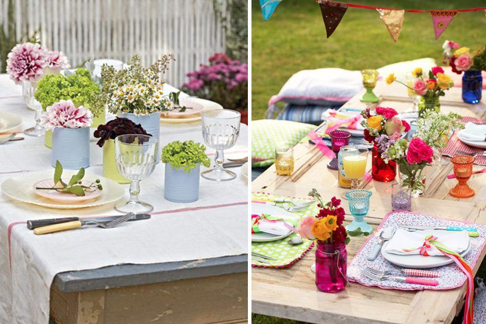 10 mesas de jard n para celebrar el verano - Mesas de verano ...