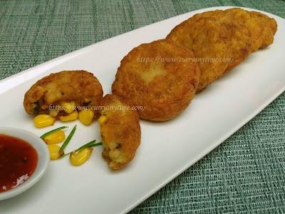 Aloo Makai Tikki - Sweet Corn Potato Patties