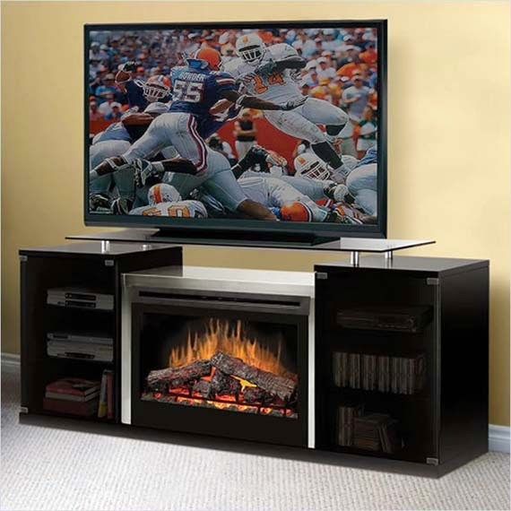 TV Stand with Fireplace design