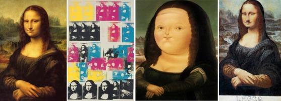Riproduzioni celebri della Gioconda: Andy Warhol, Botero, Marcel Duchamp