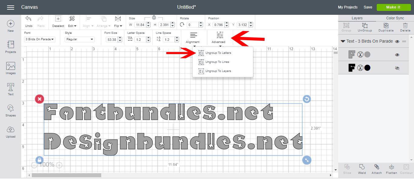 Cricut Design Space  New Text Features  Design Bundles