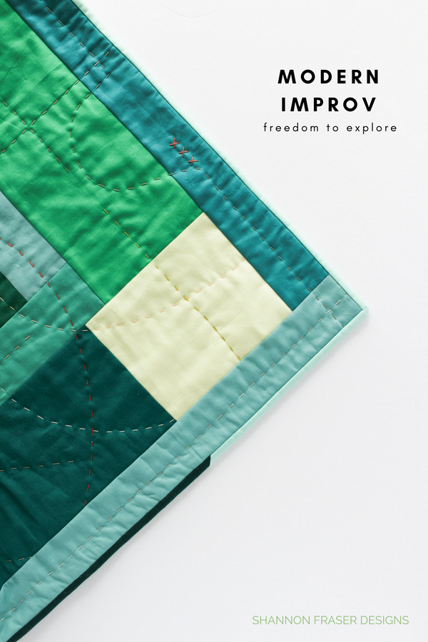 "Modern improv textile art | freedom to explore | The ""F"" Quilt by Shannon Fraser Designs"