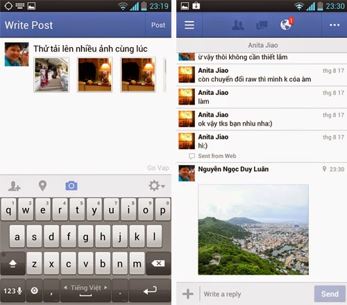 Giao diện mới của facebook 2015