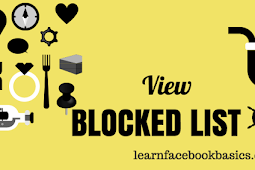 How To See Or View My Blocked List On Facebook - Unblock FB Friends