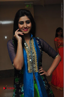 Actress Model Shamili Sounderajan Pos in Desginer Long Dress at Khwaaish Designer Exhibition Curtain Raiser  0006.JPG