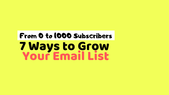 email-marketing, free-ways-to-grow-email-list, grow-blog-email-list,