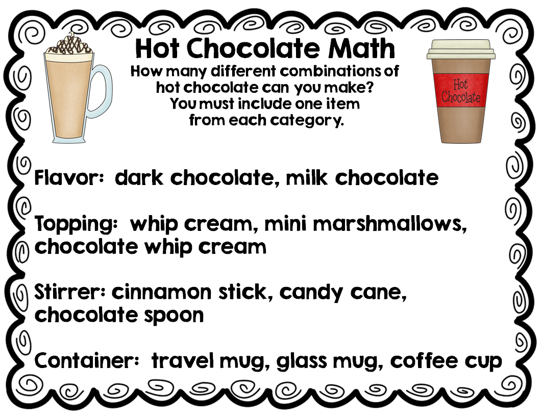 math monday problem solving with hot chocolate elementary amc. Black Bedroom Furniture Sets. Home Design Ideas