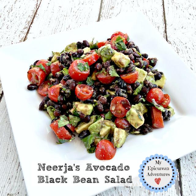 avocado black bean salad - healthy and delicious