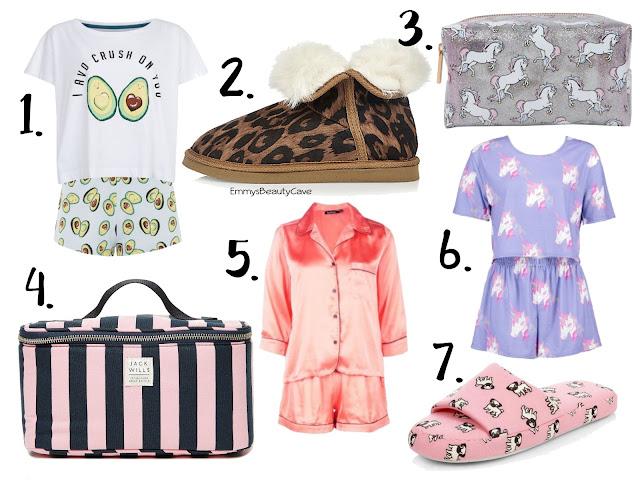 pyjama gifts, slippers, lounge wear gifts