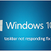 How to Fix Taskbar Windows 10 not working Error