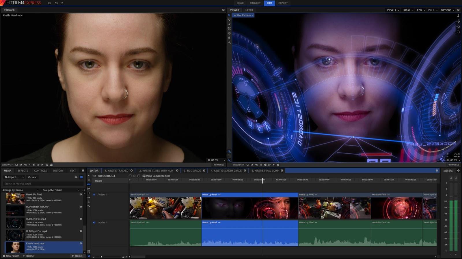 HitFilm 4 Express - Phần mềm làm phim chuyên nghiệp miễn phí - Lưu Trữ Phần  Mềm
