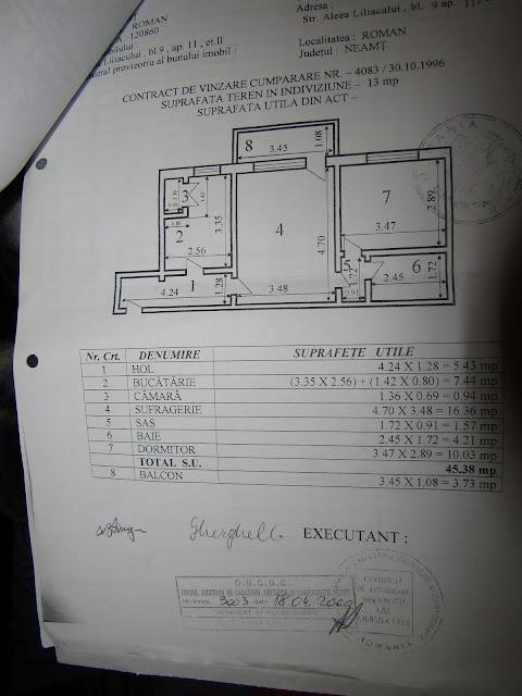 Apartament cu doua camere de vanzare in Roman-Neamt