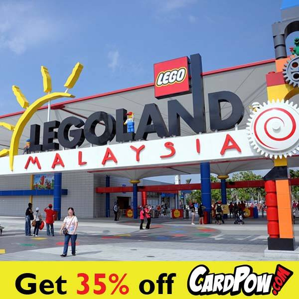 Popular discounts on CardPow for Legoland Malaysia