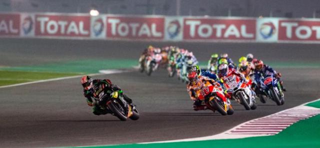 Pebalap MotoGP Uji Coba di Qatar
