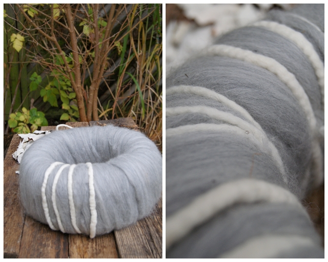 DIY Adventskranz aus Wolle mit Filzschnüren
