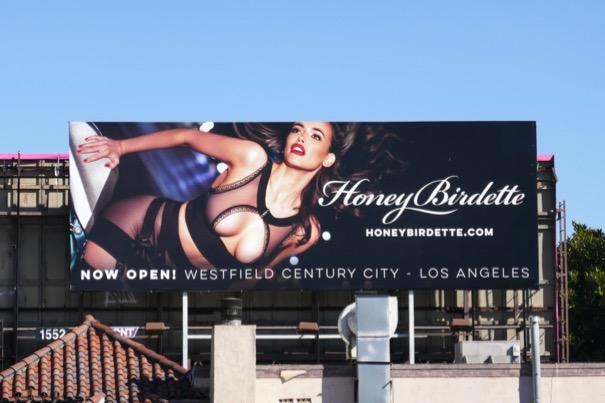 Honey Birdette lingerie billboard