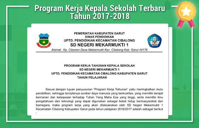 Program Kerja Kepala Sekolah Terbaru Tahun 2017-2018