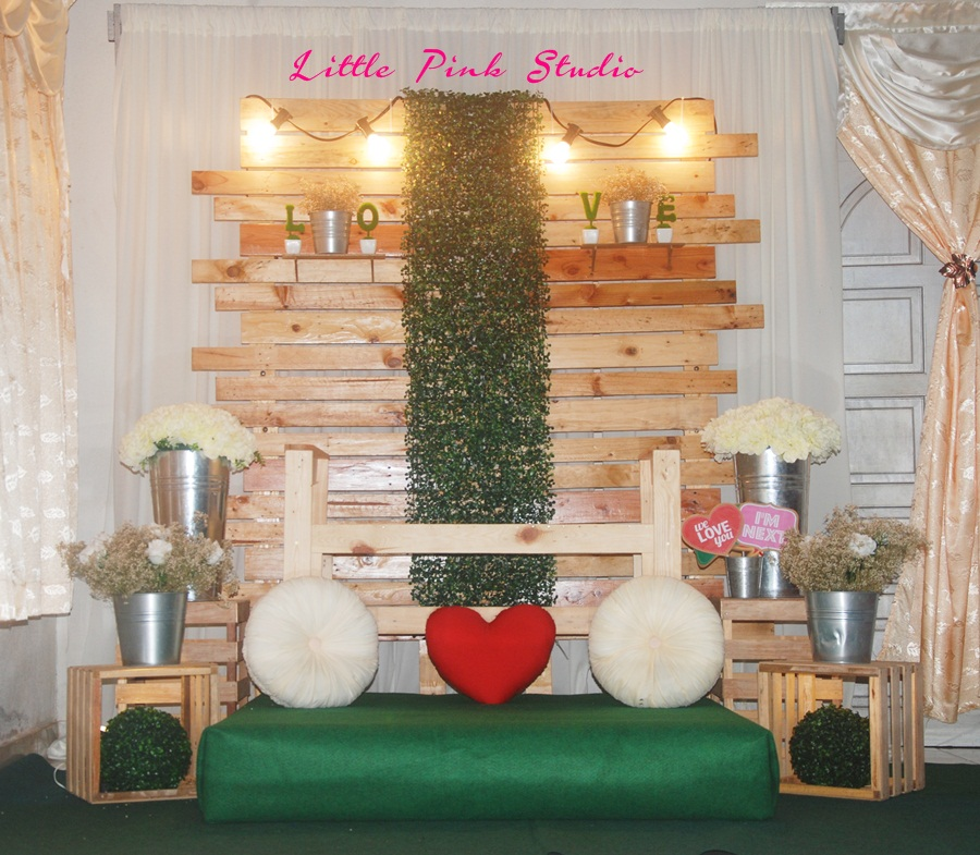 DIY Wedding Rental Pelamin Tunang Rustik