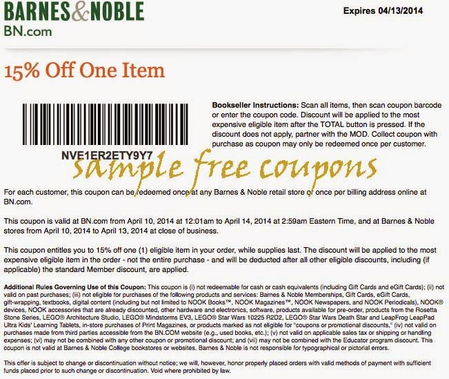 Barnes And Noble Coupon Printable