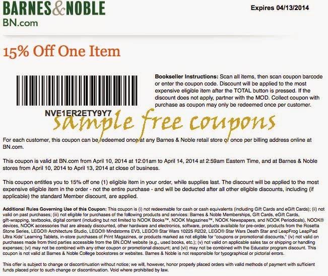 Barns and noble coupon code