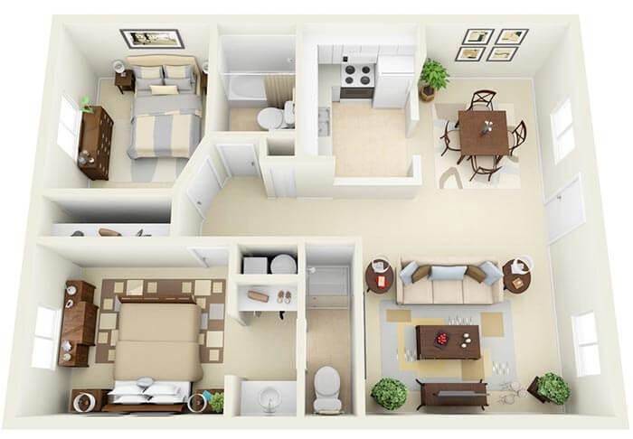 2+1  büyük ev projeleri