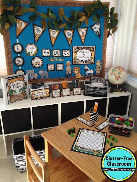 Neutral Classroom Decor ~ Jungle safari themed classroom ideas printable