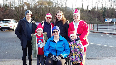 Picture of the family before the fun run