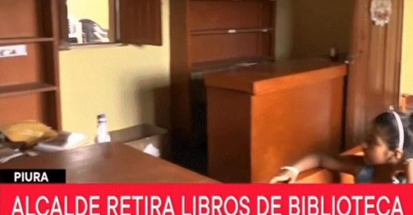 Padres de familia denuncia que alcalde de Piura ordenó el retiro de más de 2 mil libros de biblioteca