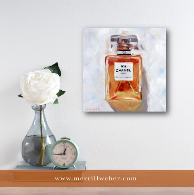 Eau de Parfum oil painting by Merrill Weber