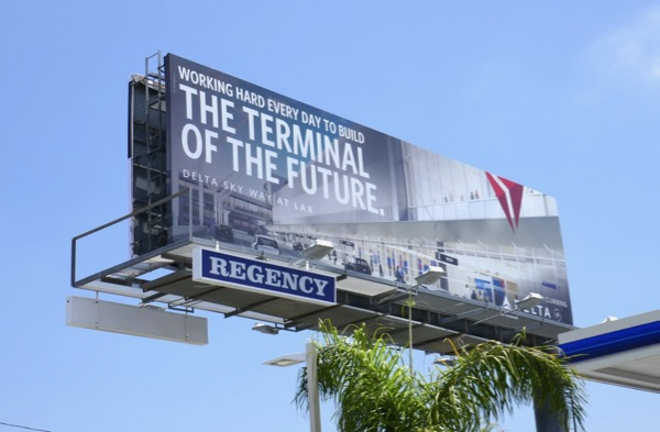 Delta Sky Way LAX terminal future billboard