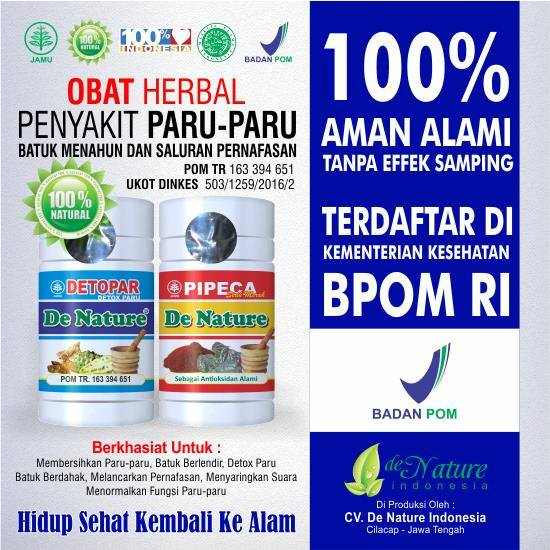 Obat Tradisional Paru Paru Herbal de Nature