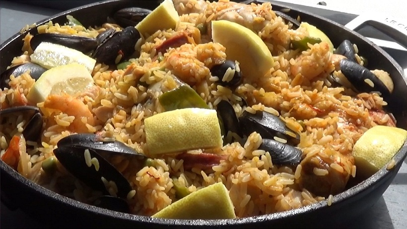 paella, maison, paëlla, facile, rapide, recette, video, chef, katy's eats