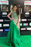 Manjusha in Beautiful Sleeveless Green Anarkali dress at IIFA Utsavam Awards 08.JPG