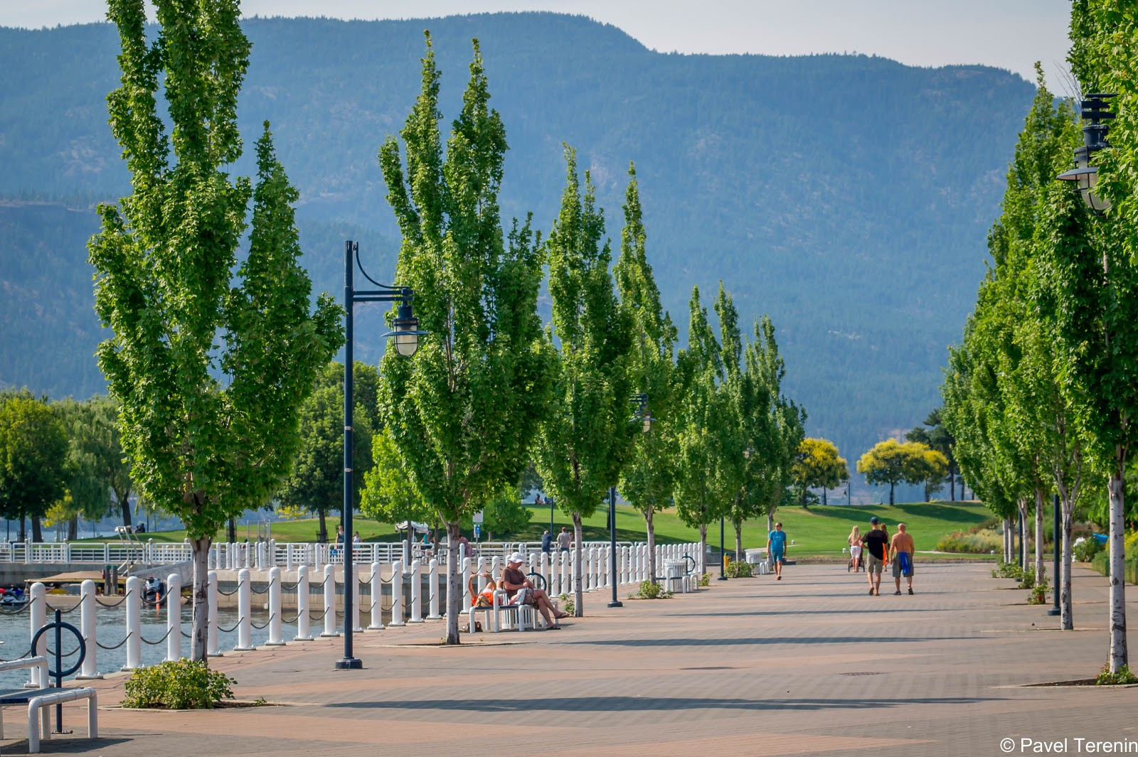 Набережная достаточно зелёная, очень приятная для летних прогулок.