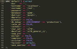 Script Koneksi pada Codeigniter
