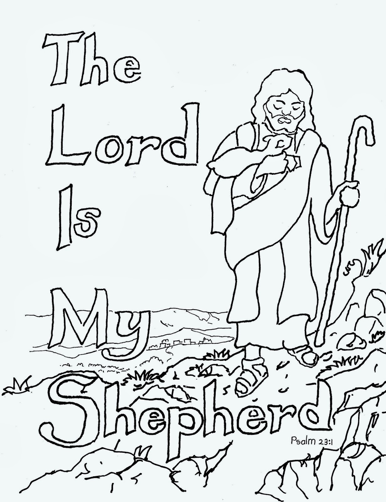 Coloring Pages For Kids By Mr Adron The Lord Is My Shepherd Free Kids Coloring Page