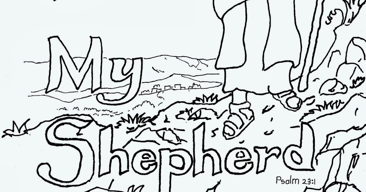 Coloring pages for kids by mr adron the lord is my for The lord is my shepherd coloring page