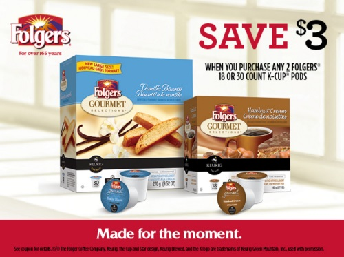 Folgers K-Cups $3 Off Coupon
