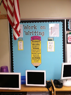 photo of classroom photo Teaching With Style organization 3rd grade Work on Writing