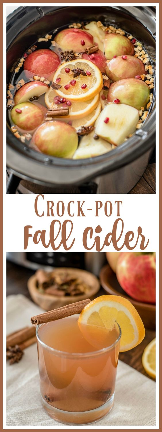 The perfect fall drink! This apple cider recipe is made with fresh apples, oranges, and pomegranates for a delicious way to usher in fall. via @almostsupermom1