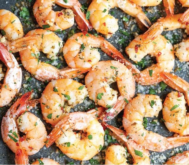 Garlic Parmesan Roasted Shrimp #easy #quickrecipe