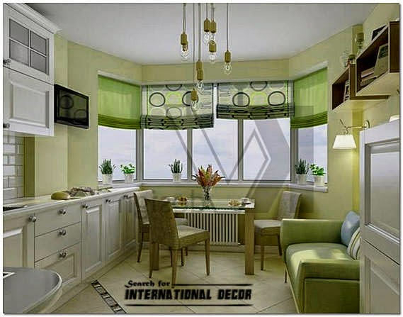Design kitchen with bay window, basic tips