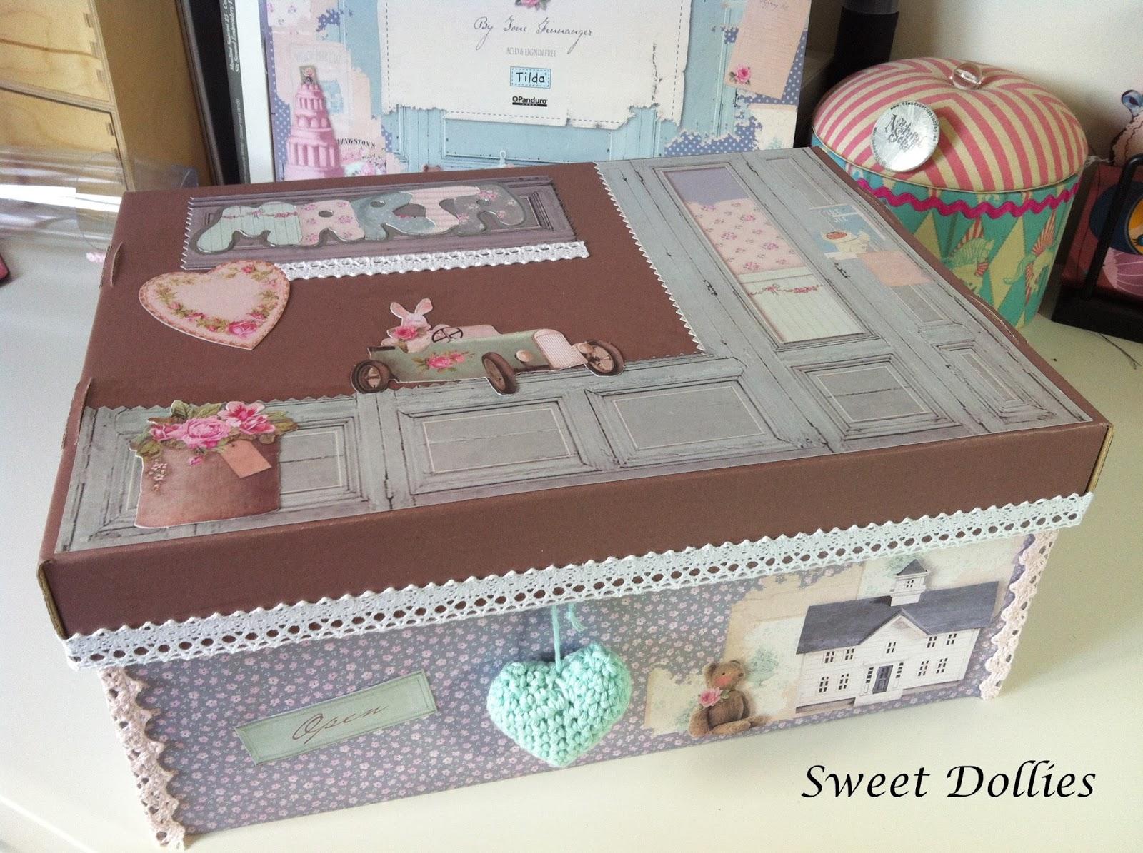 Sweet dollies - Decorar con cajas de carton ...