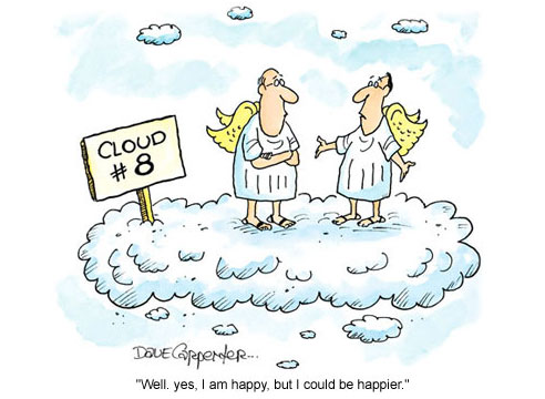 Funny cloud 8 could be happier cartoon joke picture