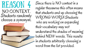 Cinnamon's Synonyms: 5 Reasons You Should Get Rid of Your Classroom Thesauruses & Why You Should ...